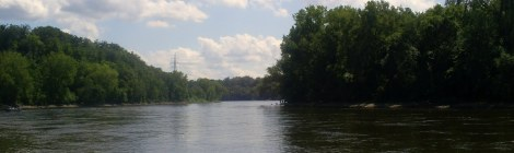 View of Mississippi River from Hidden Falls Park